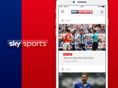 Sky Sports Live Timeline Feed mobile sketch ui ios feed timeline football live sports