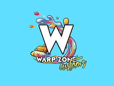 Warp Zone Logo logo designer logo design bright color combinations brand identity color palette branding project identity retrogaming gaming branding brand logo