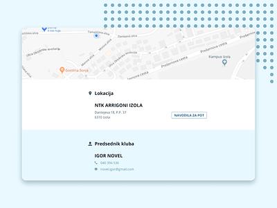 NTK Arrigoni Izola contact location webdesign ux app ui web flat minimal vector typography logo illustration design