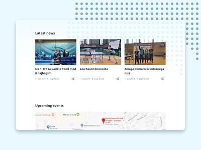 NTK Arrigoni Izola website table tennis maps news cards sport illustration vector typography logo design mobile design webdesign website uxdesign ui design