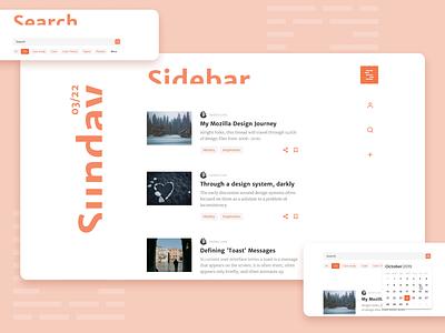 Sidebar redesign uidesign web dayli minimal vector typography design website redesign ui ux