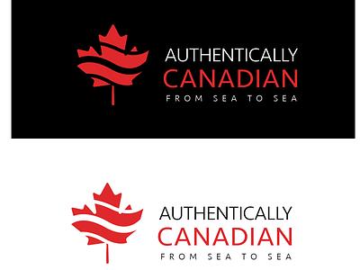 Authentically Canadian leaf logo icon minimal illustration flat dayli vector typography logocore logo design challenge