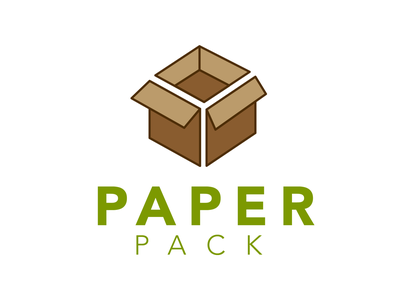 Paper Pack icon minimal illustration flat dayli vector typography logocore logo design challenge