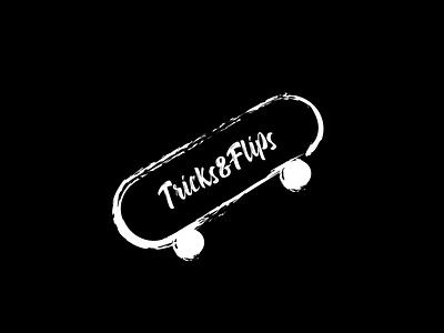 TRICKS & FLIPS tricks icon minimal illustration flat dayli vector typography logocore logo design challenge
