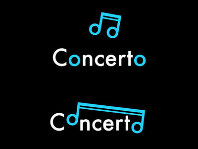 Concerto music app concerto icon minimal illustration flat dayli vector typography logocore logo design challenge