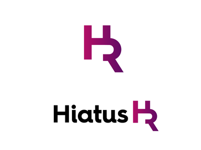 Hiatus HR icon minimal illustration flat dayli vector typography logocore logo design challenge