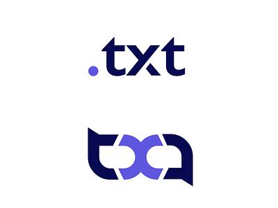 TXT icon minimal illustration flat dayli vector typography logocore logo design challenge