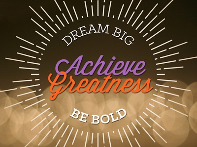 Dream Big! wisdom script holiday card print web