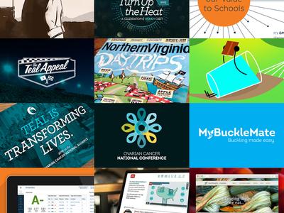 Portfolio redesign print design illustration logo design portfolio thumbnails