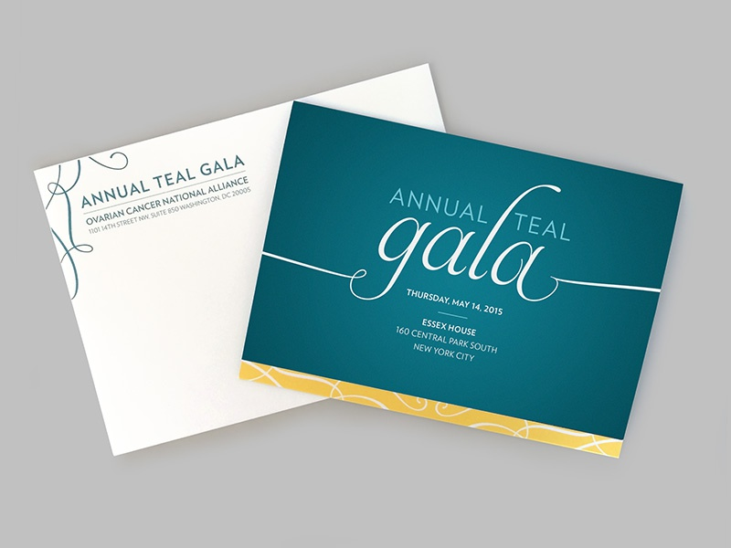 Annual Teal Gala gala print invitation