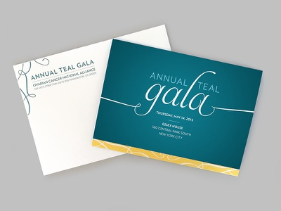 Annual Teal Gala gala print invitation