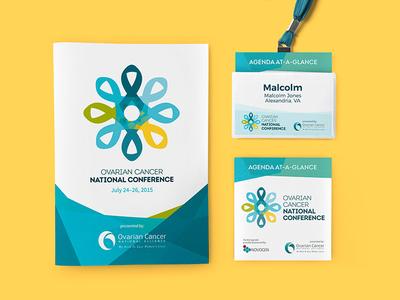 Ovarian Cancer National Conference Suite agenda name badge print program