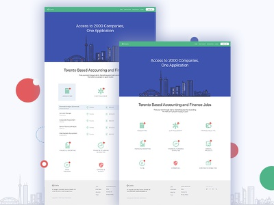 Interactive Job Search Homepage material design ui ux landing page homepage job search interactive