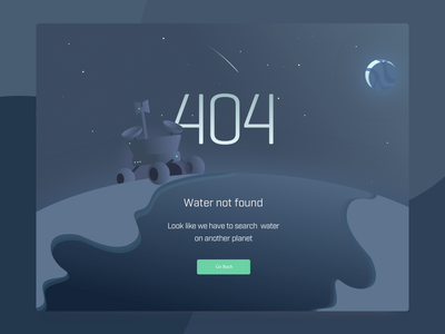 404 Illustration interaction design ui design 404 planet outterspace space education mooc illstration