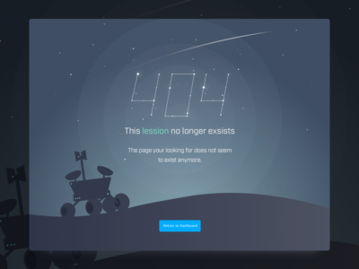 404 Page Illustration space starts ui design user interface missing page error state 404