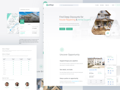 Flip and Buy Houses flipping rental minimal web design website construction housing homepage realestate