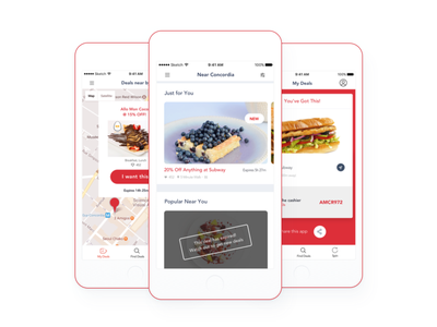 Location Based Deals App habit-forming meals food feed location university coupon deals