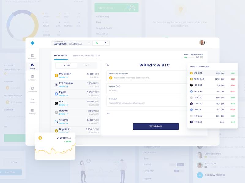 Crypto Exchange | Simplifying Crypto data driven agile lean ux startup fintech finacial crypto app crypto exchange crypto currency