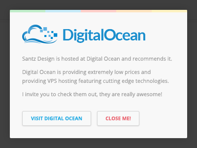 Santz • Silly modal css3 animations modal box hosting digital ocean santz design