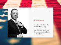 Frank's quote house of cards underwood frank author quote interface widget ui
