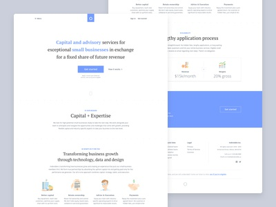 Grō Capital • Capital and advisory for small businesses illustrations homepage landing page fintech lending advisory capital