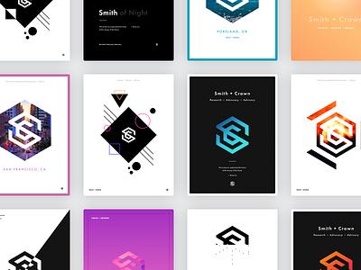 Smith + Crown • Brand exploration crypto cryptocurrency poster creative illustration typography branding logo design