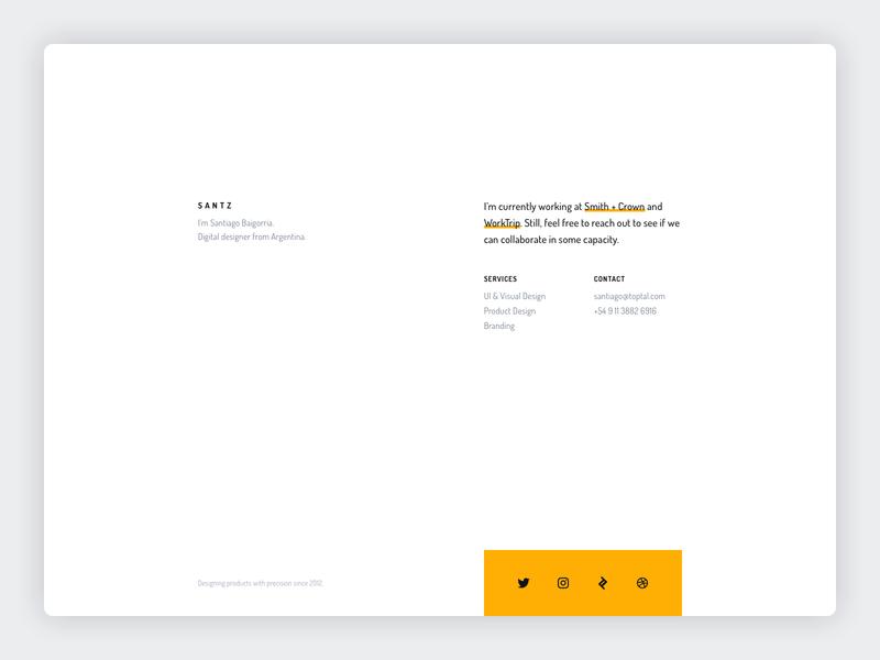 Santz Co. • Personal site branding and identity clean typography dosis minimalism minimalist minimal site personal portfolio branding design branding