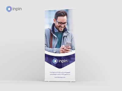 inpin, Rollup Banner بلد balad neshan نشان هوشمند smart جستجو ملک اپلیکیشن خانه تهران اینپین home tehran rollup inpin