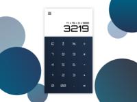 Daily UI #004 - Futuristic Calculator