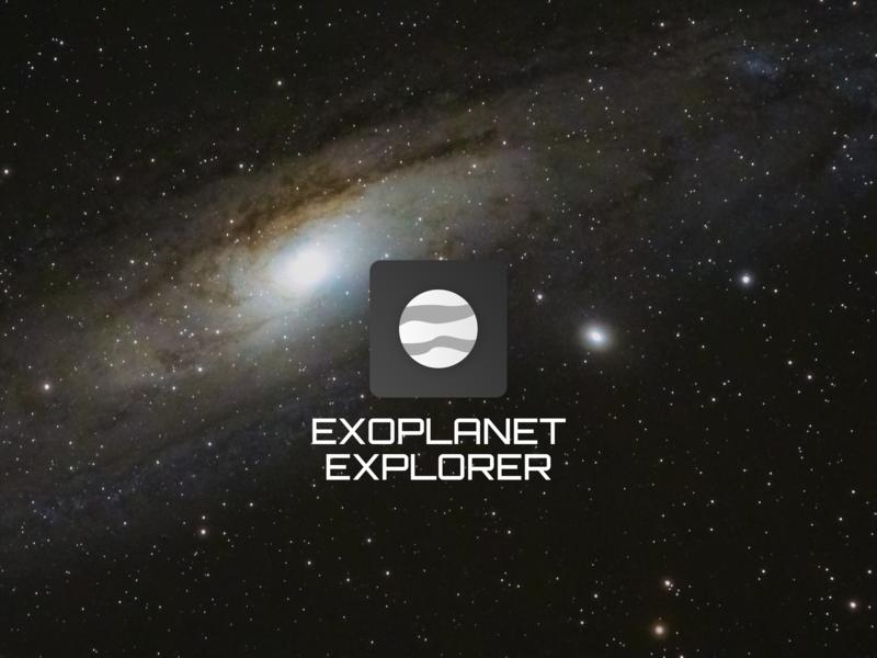 Daily UI #005 - Exoplanet Explorer App Icon daily ui 005 exoplanet planet universe icon ux ui daily ui
