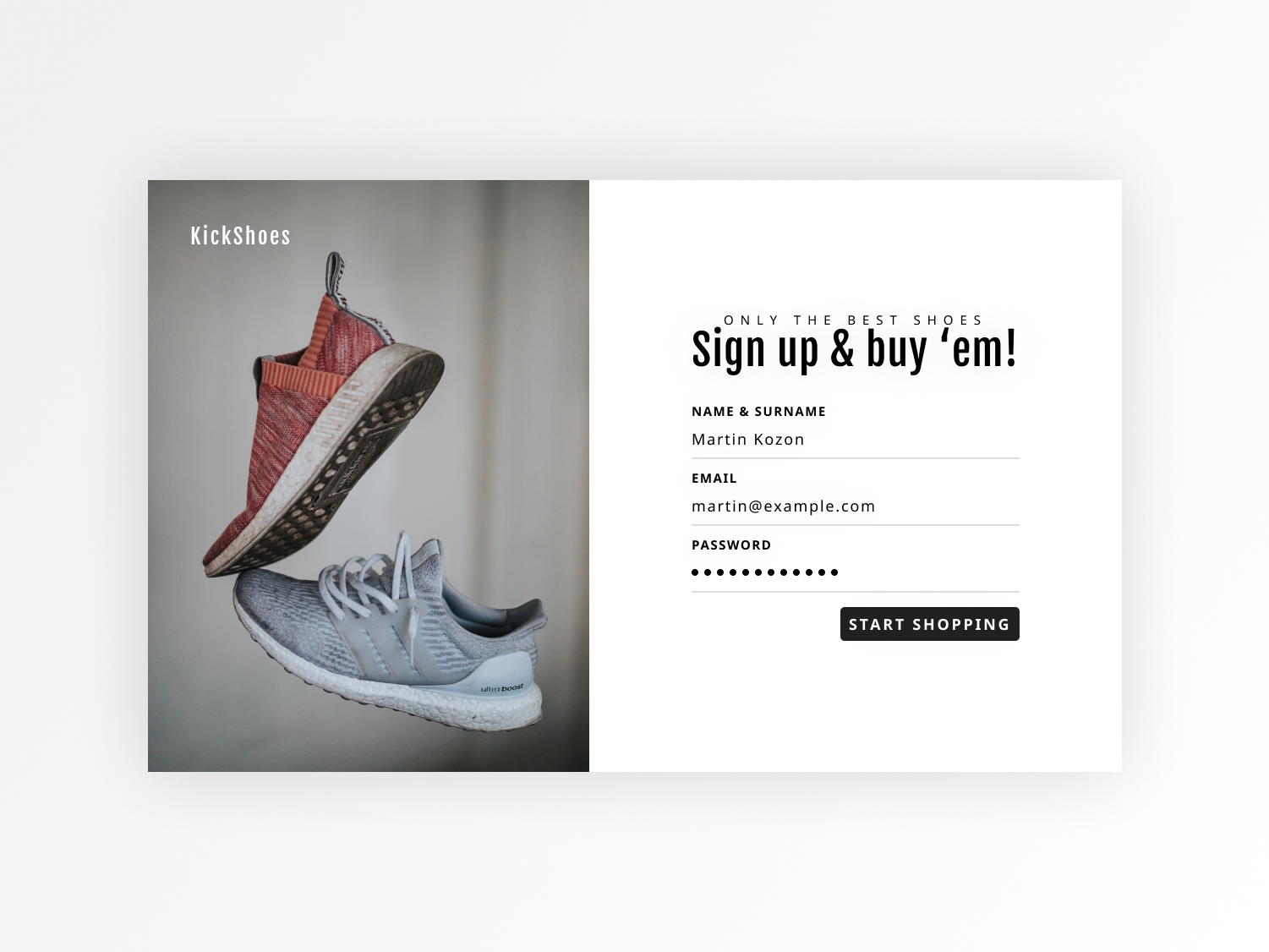 Sign Up Page - Daily UI #001 daily ui 001 daily 100 shoes sign up register daily ui