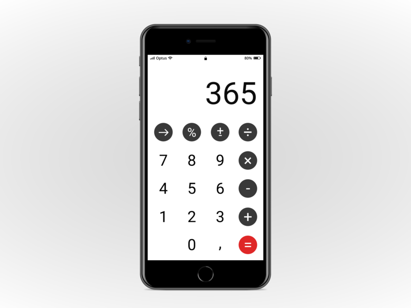 Calculator - Daily UI 004 design app design ux-ui daily calculator ui ui  ux calculator daily ui 004