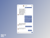 Chat app - Daily UI #013