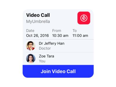 MyDoc Video Call Bubble