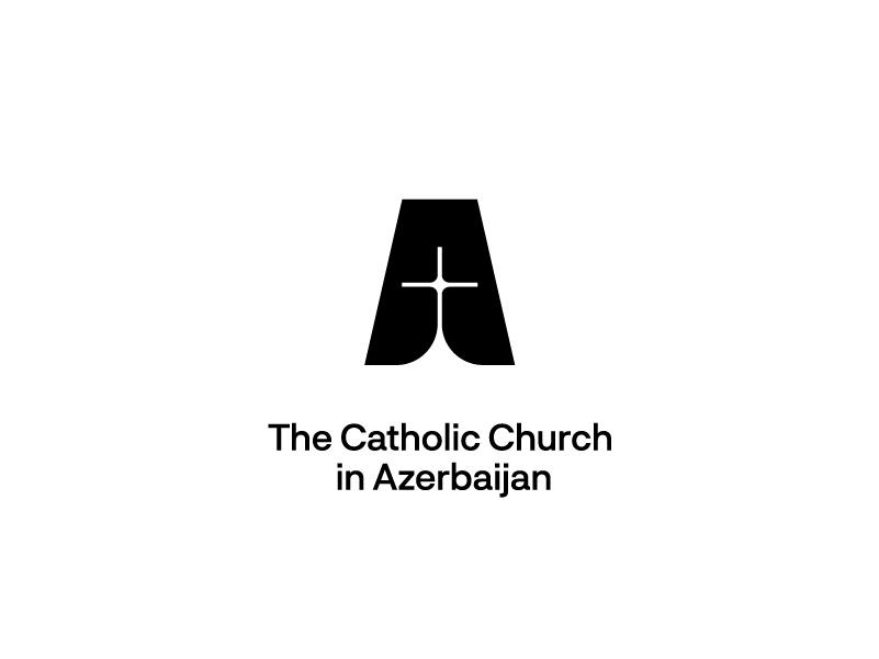 Logo for The Catholic Church in Azerbaijan catholic cross logotype logo font design identity flat icon branding
