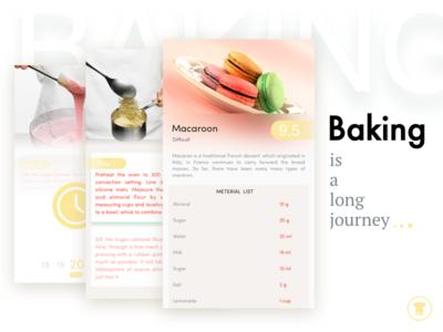 Baking is a long journey menu cookbook app dish cook bread baking