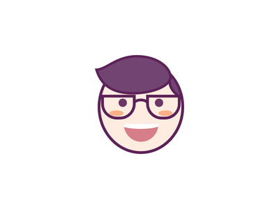 HEH!😀 life colorful illustration glasses face