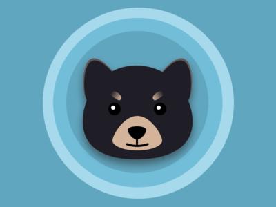 Am I a dog or bear? illustrator animal cute lovely bear dog