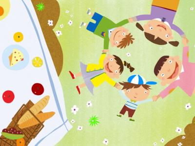 Happy together children book story kids illustration children
