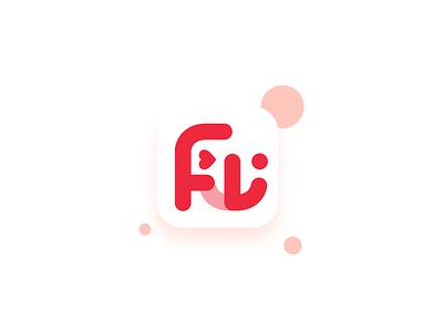 Smile LOGO wordmark type social smile shopping logo icon grid ecommerce cute chat bag