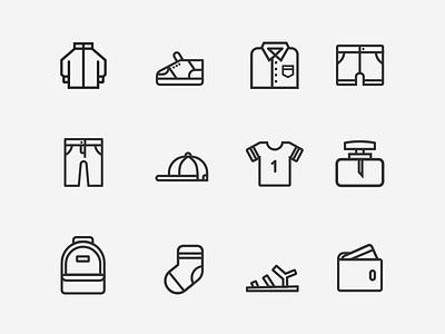 Men's Fashion Icon icon wallet perfume socks hat jacket shirt pants shoes clothe fashion men