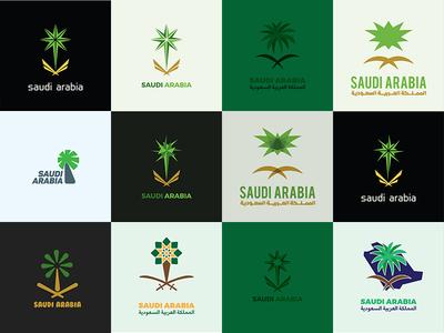 The Saudi Arabian national emblem Logos