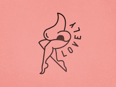 Lovely Smells illustration legs nose
