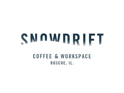 Snowdrift Wordmark type snow coffee logo