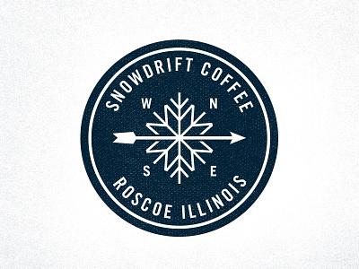 Snowdrift Seal seal mark logo retro patch coffee snow