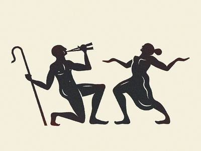 Utopia greek dancing music utopia figures illustration