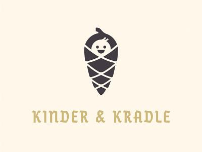 Ist es gut? logo nursery cleaning children german baby pine cone