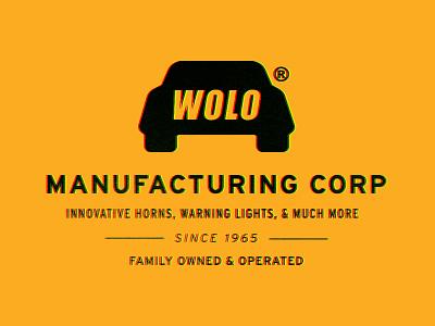YOLO for Wolo highway 1970 1960 vintage traffic car brand logo