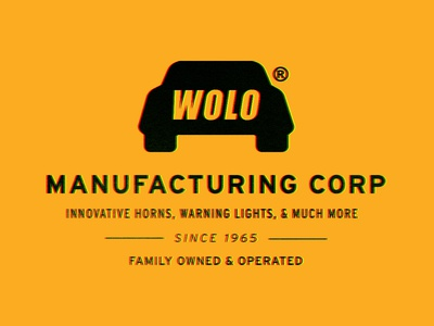 YOLO for Wolo highway 1970 1960 vintage traffic car brand logo