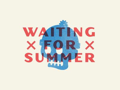 Waiting... illustration summer winter skull